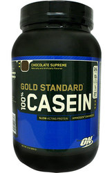 Optimum Nutrition 100% Casein Gold Standard,  Chocolate Supreme,  2 lbs